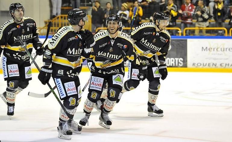 Hockey sur glace : les Dragons de Rouen renouent avec la victoire face à Nice