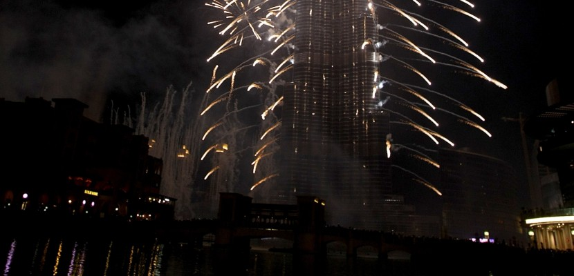 Nouvel An : le feu d'artifice de Dubaï en direct sur Twitter