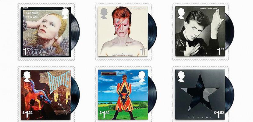 musique la poste britannique dite des timbres en hommage david bowie. Black Bedroom Furniture Sets. Home Design Ideas