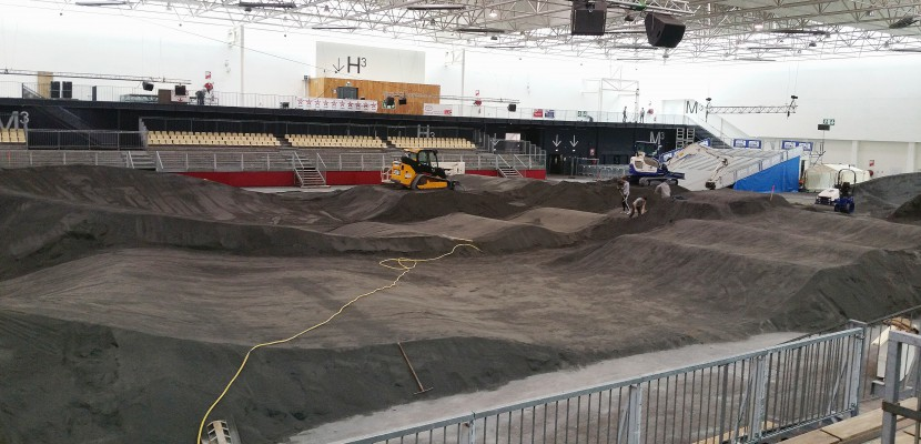 Caen. Le parc des expositions de Caen se prépare au BMX [Vidéo]