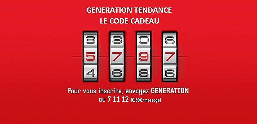 Génération Tendance : Tentez de trouver le 14ème CODE CADEAU !