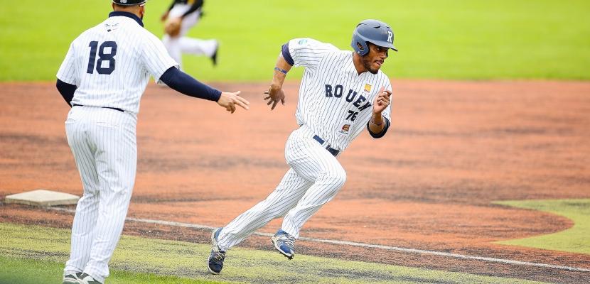 Baseball : Une deuxième journée sans encombres pour les Huskies de Rouen