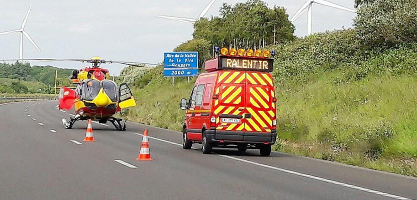 Villedieu-les-Poêles. Accident sur l'A84 : l'autoroute coupée