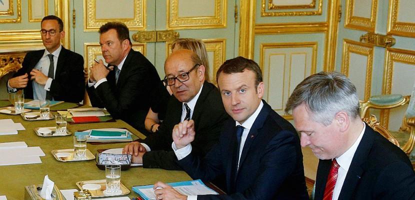 Premier Conseil des ministres pour le deuxième gouvernement de l'ère Macron