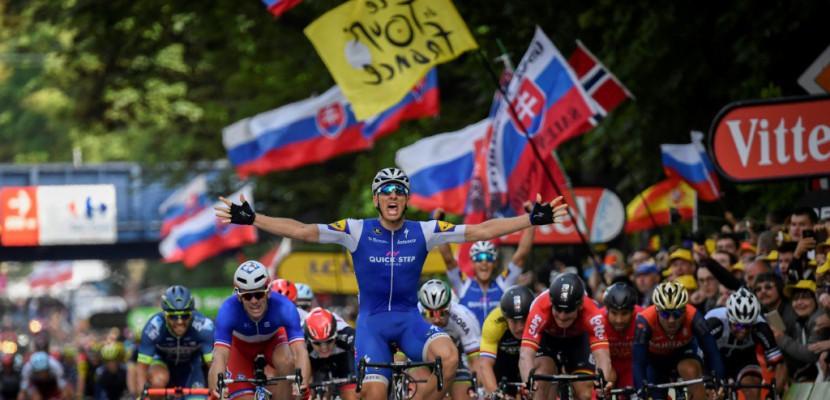 Tour de France: la 2e étape pour Kittel au sprint Thomas toujours en jaune