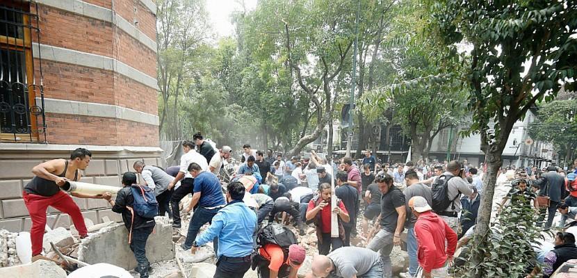 Mexique: un séisme fait près de 150 morts, 32 ans après celui de 1985