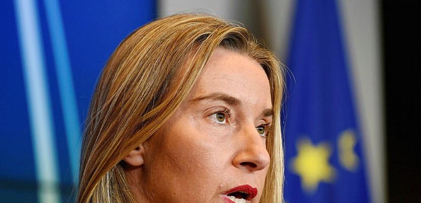 Iran: l'UE envoie Mogherini à Washington défendre l'accord nucléaire