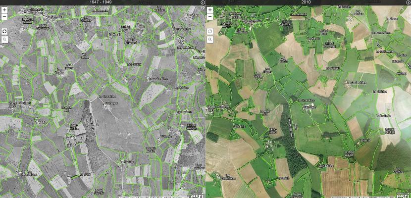 Perche: une appli pour comparer notre paysage avec celui d'il y a 70 ans