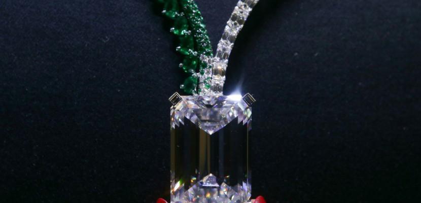 Le plus gros diamant jamais vendu présenté aux enchères à Genève