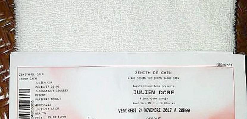 Après Son Concert à Caen La Serviette De Julien Doré Sur Le Bon Coin