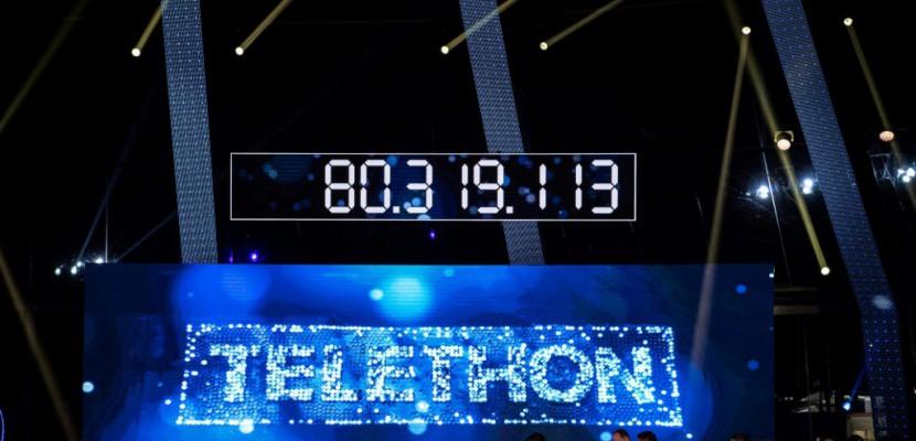 31e Téléthon: les promesses grimpent avec Johnny Hallyday en
