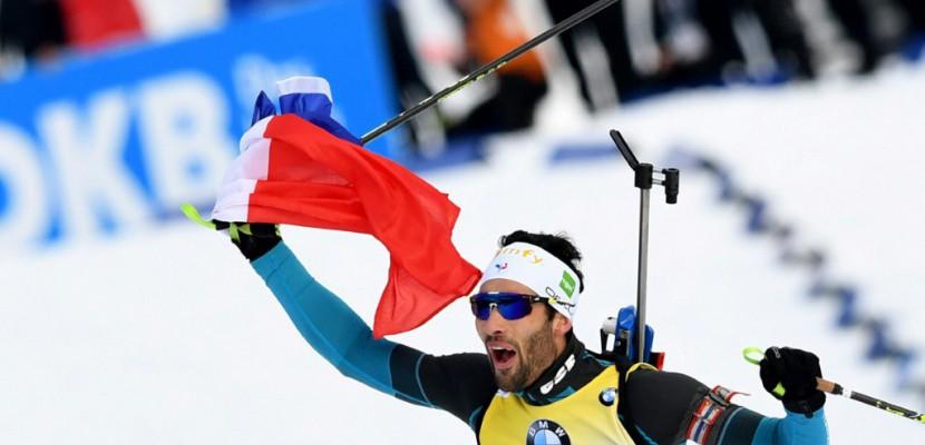 Biathlon: grand bleu au