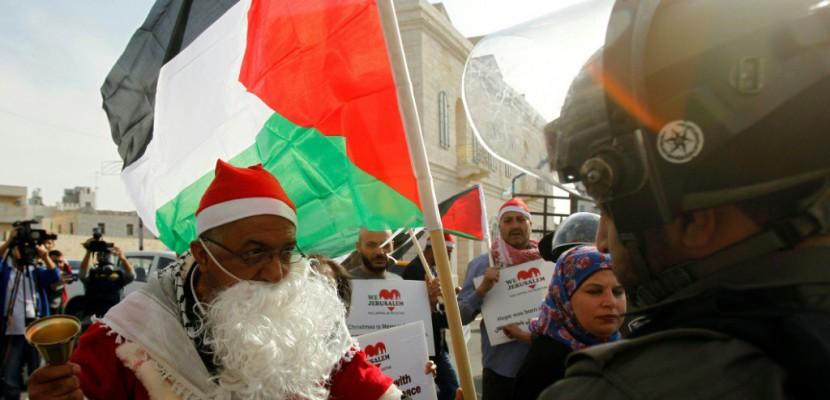 Noël: les tensions sur Jérusalem ternissent les festivités à Bethléem