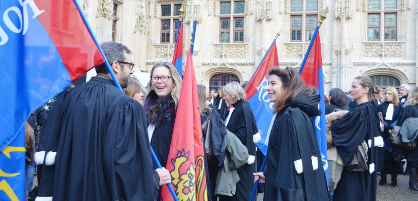 Rouen : les avocats mobilisés contre la réforme de la carte judiciaire