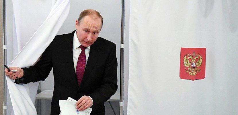 Poutine réélu pour un 4e mandat avec 73,9% des voix, selon les sondages sortie des urnes
