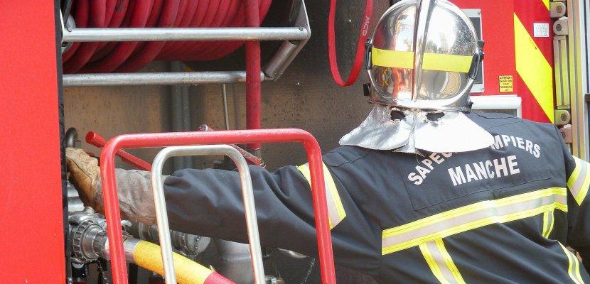 A Picauville, un garage de 100 m2 détruit par un incendie