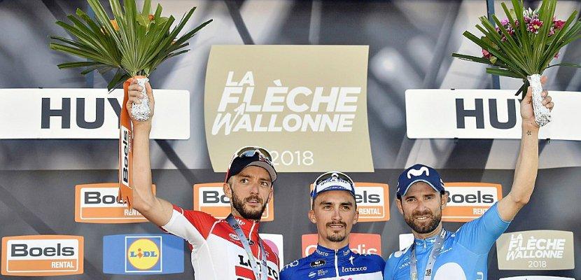 Flèche Wallonne: Alaphilippe domine Valverde et gagne sa première classique