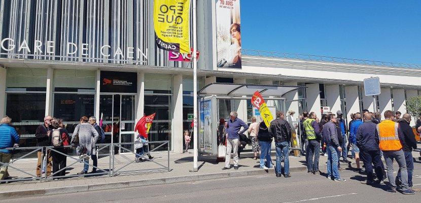Caen. Grève SNCF: les cheminots de Caen lancent une opération sur l'A13