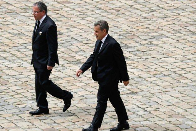 D'anciens présidents aux obsèques de Serge Dassault aux Invalides