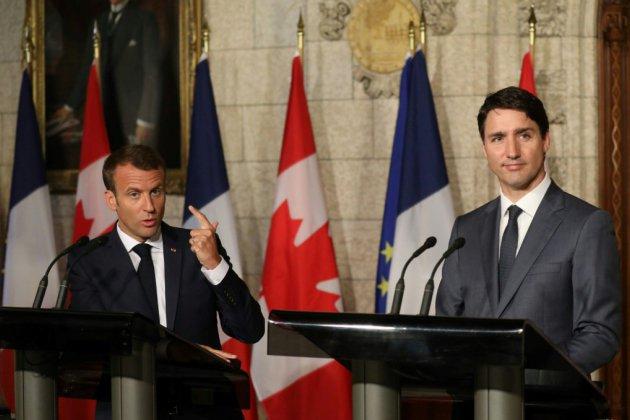 """Pour Macron et Trudeau, les taxes américaines """"risibles"""" auront des conséquences aux USA"""