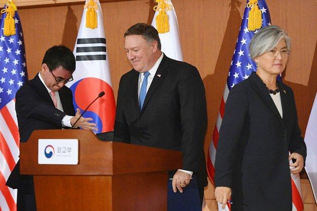 """Pompeo tente de rassurer Séoul et Tokyo: Kim a """"compris"""" qu'il doit dénucléariser rapidement"""