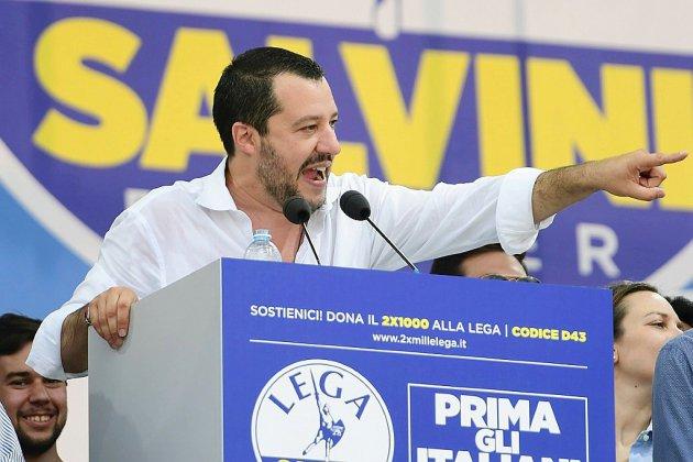 Italie: à Pontida, le ministre Matteo Salvini célèbre la Ligue arrivée au pouvoir