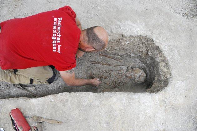 Une fouille archéologique à Rouen, temple Saint-Eloi