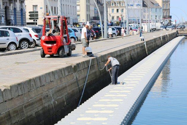 À Cherbourg, 400 mètres de pontons flottants pour la Drheam Cup