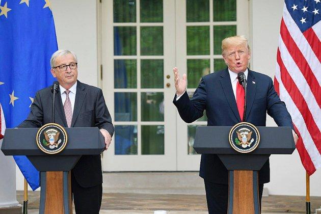 """Rencontre Trump-Juncker: """"excellents résultats"""" mais pas de triomphalisme selon l'UE"""