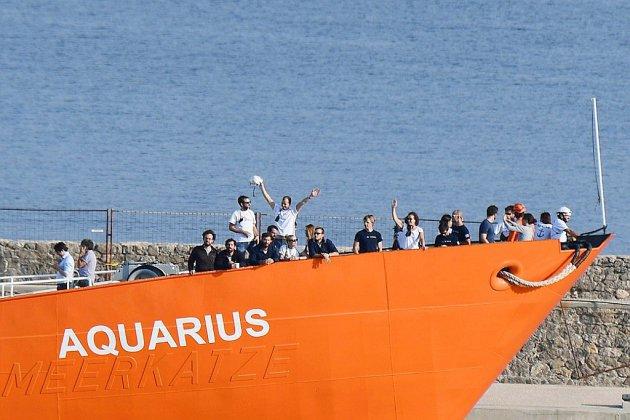 Après un mois d'escale, l'Aquarius repart en mer pour poursuivre le sauvetage de migrants