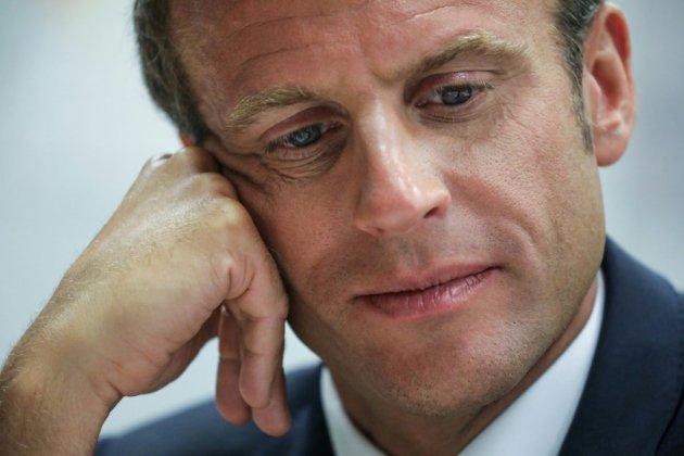 La popularité de Macron en chute libre, selon un sondage