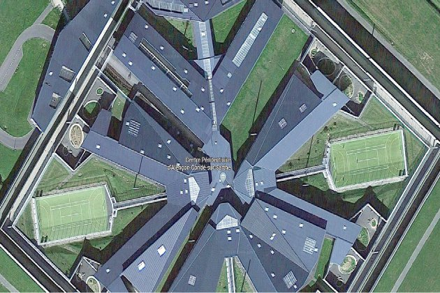 Interdite, la vue aérienne de la prison de Condé-sur-Sarthe est en ligne