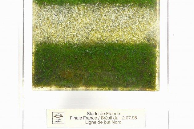 Offrez-vous un bout de gazon de la finale France-Brésil 1998 vendu aux enchères