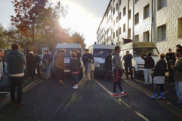 Plus de 50 personnes expulsées d'un squat à Caen
