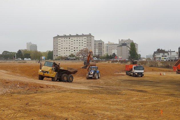 Rouen: le futur écoquartier Flaubert continue de prendre de la hauteur