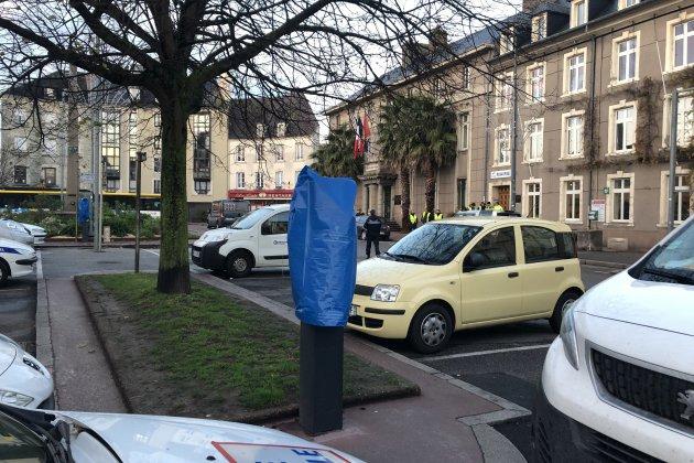 Cherbourg. Horodateurs bâchés: pas de PV à Cherbourg