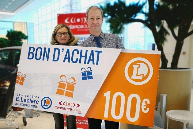 Tendance Ouest poursuit sa distribution de cartes cadeaux de 100 € avec les Centres E.Leclerc de Normandie