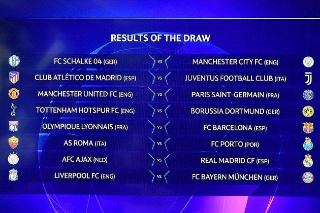 C1/Paris évite le pire avec Manchester United, Lyon hérite de l'ogre Barça