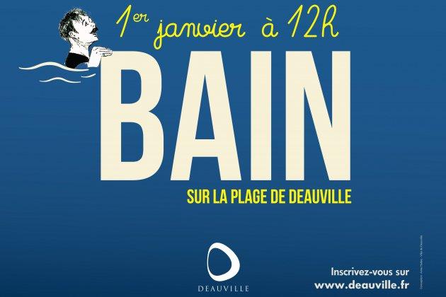 Deauville vous invite à son Bain du 1er Janvier