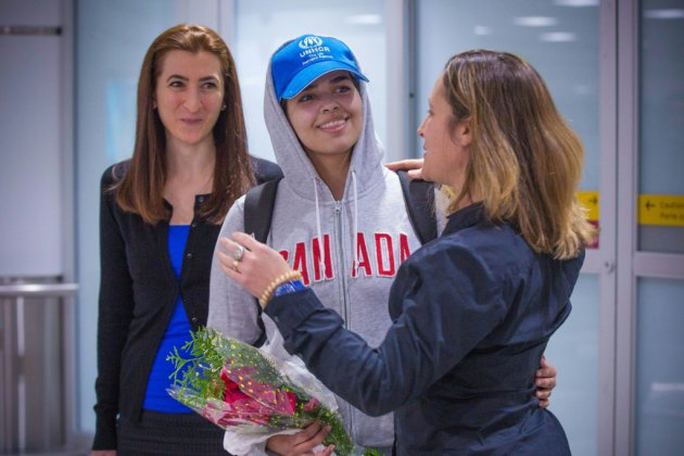 La jeune Saoudienne Rahaf Mohammed al-Qunun est arrivée au Canada