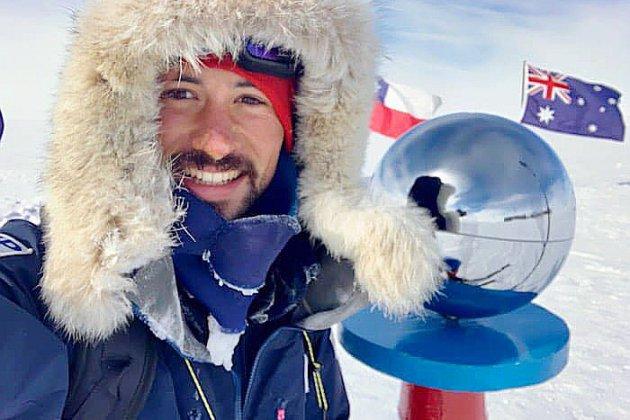 Matthieu Tordeur, premier normand à rallier le Pôle Sud sans assistance