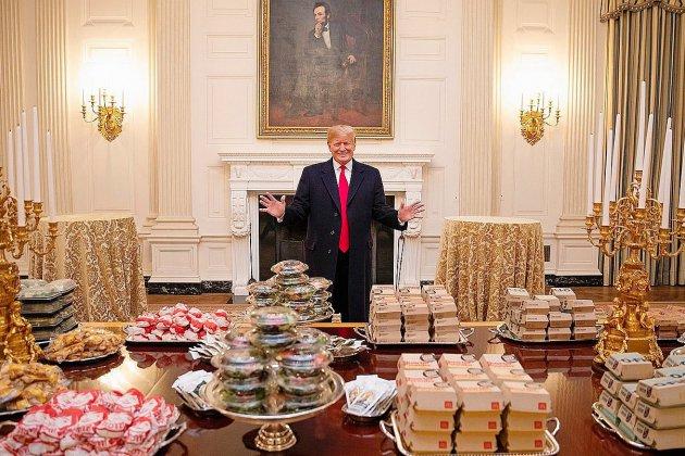 Donald Trump paye le McDo à la Maison blanche