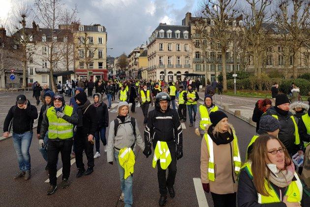 Gilets jaunes, acte XII : mobilisation en hausse et mouvement plus calme à Rouen