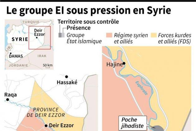 Syrie: violents combats entre l'alliance arabo-kurde et les jihadistes de l'EI