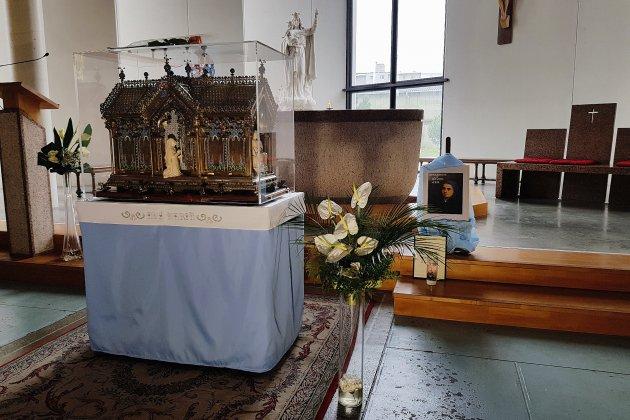 Les reliques de Sainte Bernadette en tournée en Normandie