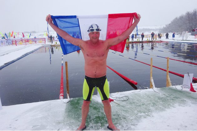 [photos] Nage en eau glacée : L'Ice doctor de Rouen, quadruple médaillé aux championnats du monde
