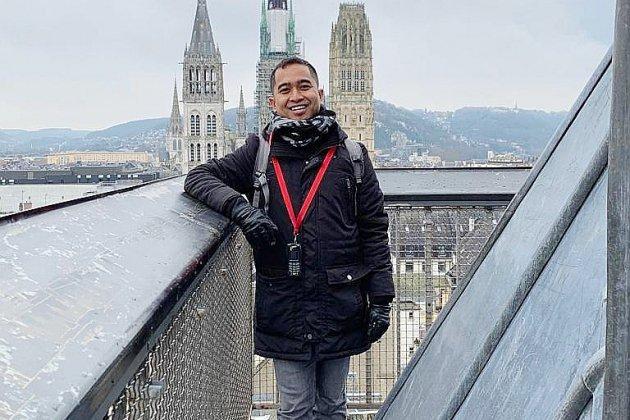 Arianto, étudiant étranger à Rouen et participant d'Amazing Normandy tour