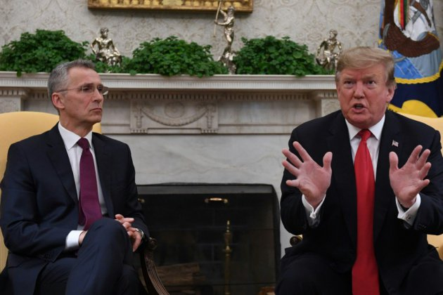 Trump offre un satisfecit à l'Otan pour ses 70 ans