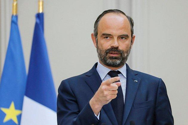 Le premier ministre Édouard Philippe en meeting à Caen
