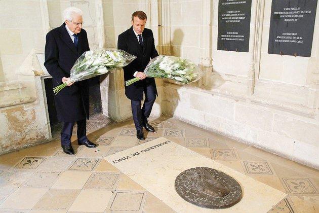 Sur les traces de Léonard de Vinci, Macron et Mattarella célèbrent l'amitié franco-italienne